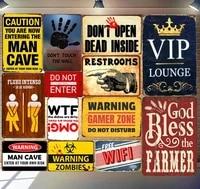 vip lounge tin plate sign metal home decor wall art auto shop garage pub cafe matal craft bar wall painting 30x20cm a264
