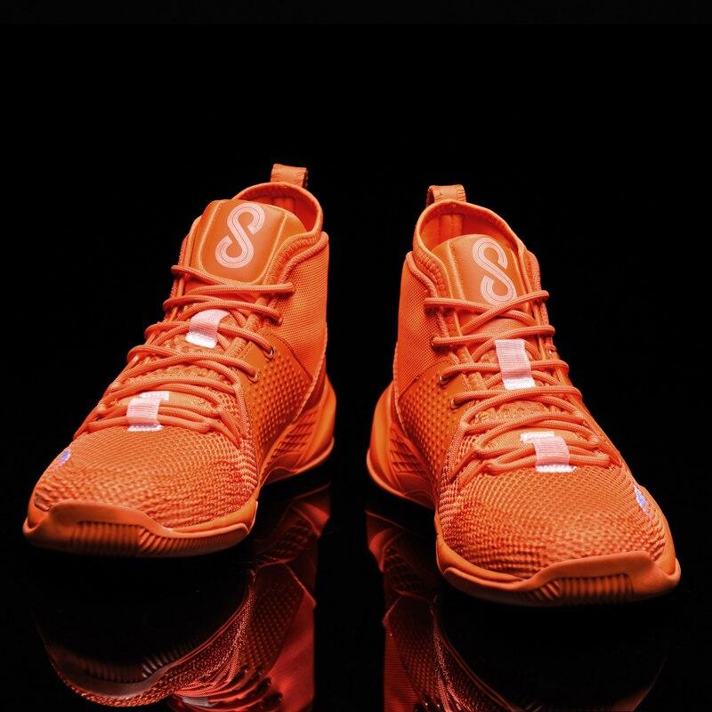 Los hombres de baloncesto Zapatos altos de los hombres transpirables botas tobillo...