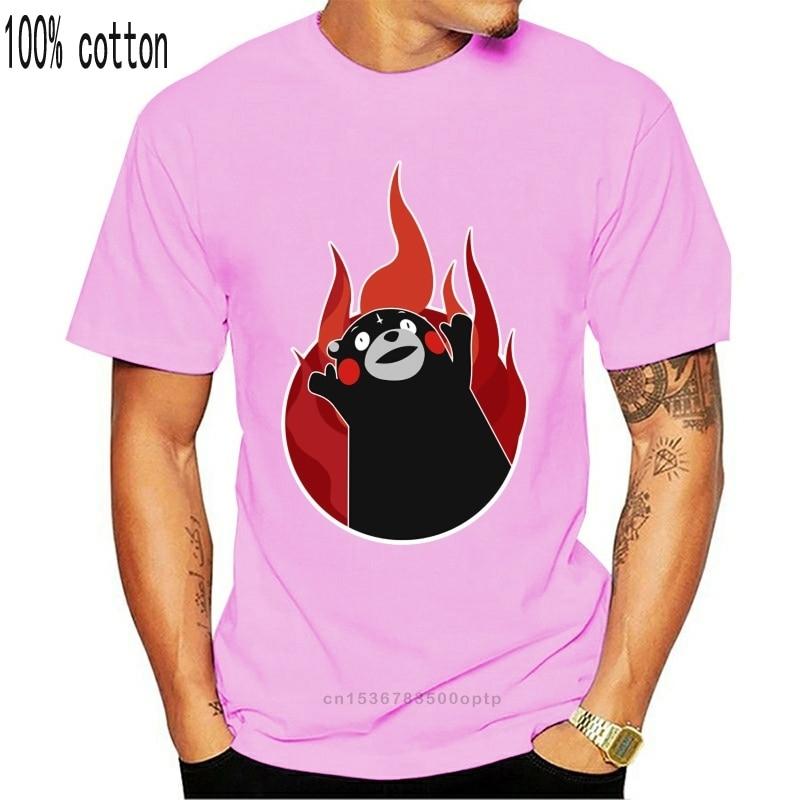 Roupa de t camisa kumamon para a glória elegante tshirts masculino manga curta roupas homem baixo preço fiyat camisetas