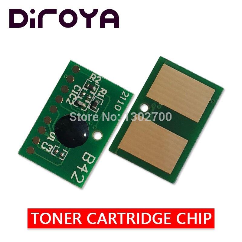 2 uds 7 K/EUR 45807106 cartucho de tóner chip para oki B412 B432 B512 MB472 MB492 MB562 B432dn B412dn B512dn MB562dnw polvo restablecer