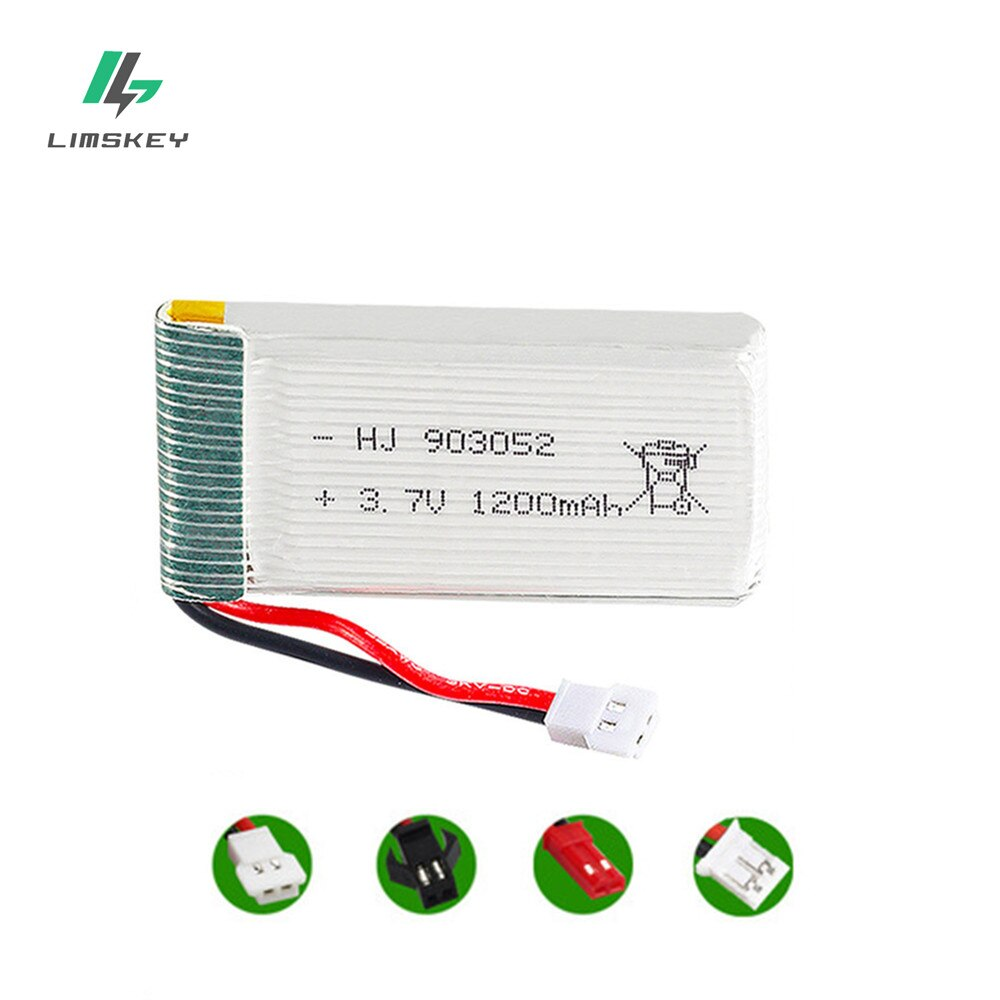 3,7 V 1200 мА/ч, 25C Lipo Батарея для Syma X5 X5C X5SW X5SC X5S X5SC-1 M18 H5P Квадрокоптер с дистанционным управлением 1200 мА/ч, 903052 3,7 V Батарея для SYMA