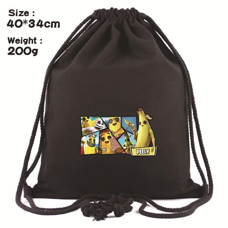 Mochila De Juego Fortnites, mochila de noche con cordón, bolsa de lona Simple, bolsa de deporte portátil para exteriores, bolsa para fiestas, regalos no sexuales
