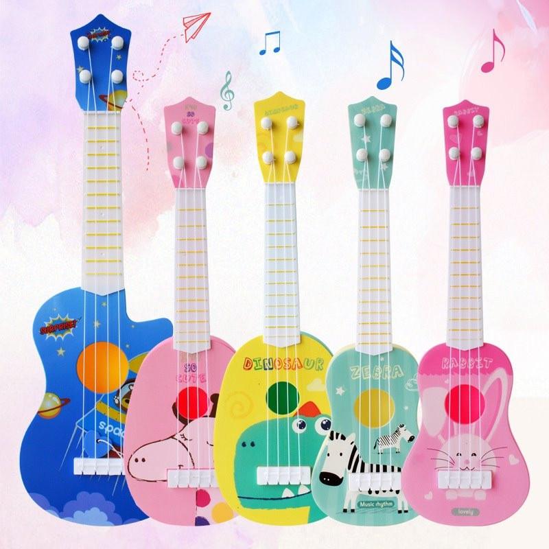 Wormom bebé juguetes musicales ukelele guitarra instrumentos musicales para niños educativos bebé juguetes de aprendizaje regalo juguete de desarrollo