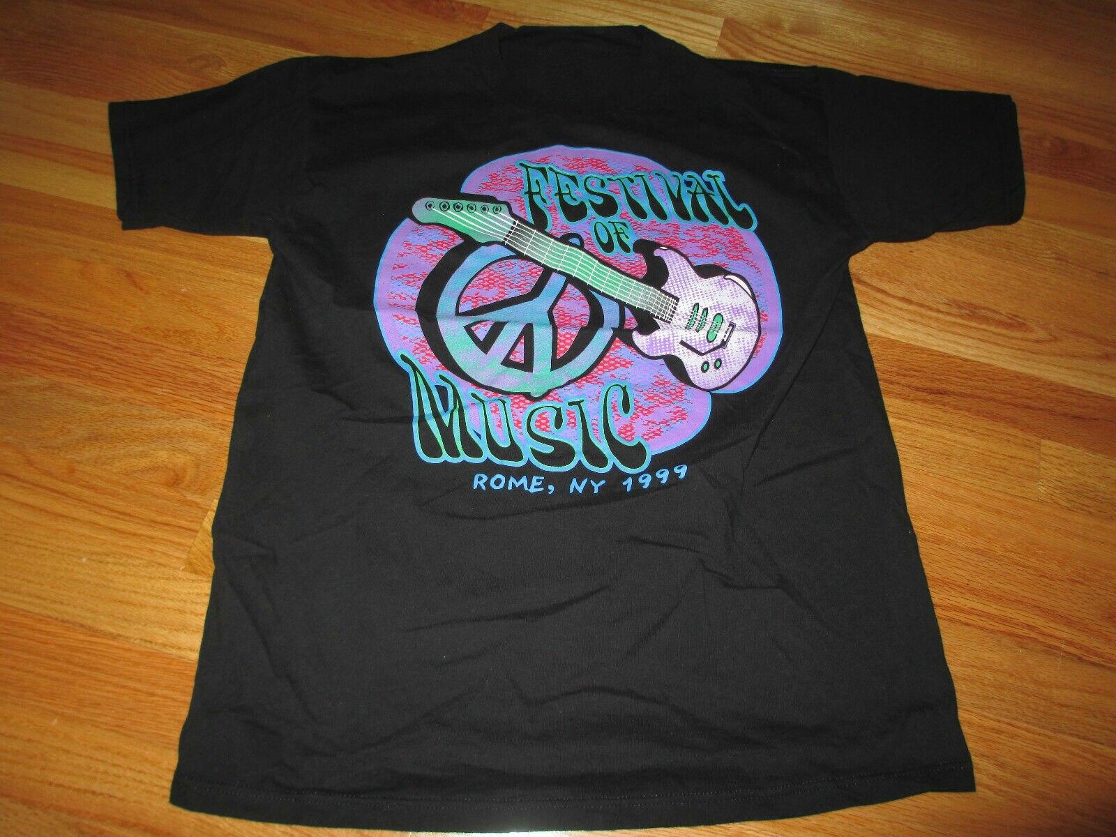 "1999 Woodstock ""Festival de Música"" Roma, Ny camiseta tamaño Unisex S-3Xl"