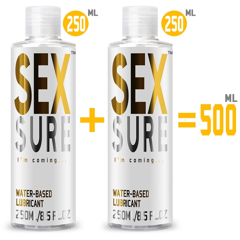 500ml/250ml Water Base Lubricant Anal Lubrication Lubricants For Women Anal Sex Toys Vagina Oral Lub