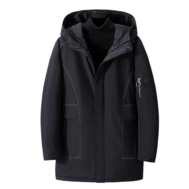 ¡Novedad de invierno 2019! Abrigos de algodón para hombre, chaqueta a la moda, Parka con bolsillo ajustado y capucha de gran calidad de talla grande para invierno 2XL-9XL