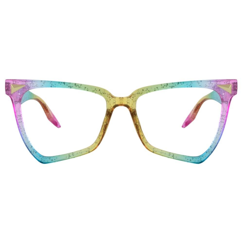 Zeelool unicórnio arco-íris borboleta óculos para mulher com lente clara op01860