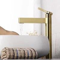 2021gold brass bathroom basin faucet deck mounted cold and hot water mixer tap blackgoldchromerose gold