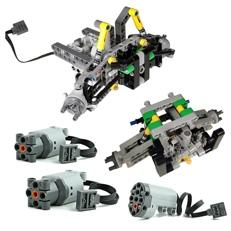 NEW Technical MOC Brick Parts Rear Suspension System of Off-Road Vehicle Bulk Parts Compatible for logoes Boys Kids DIY Toys