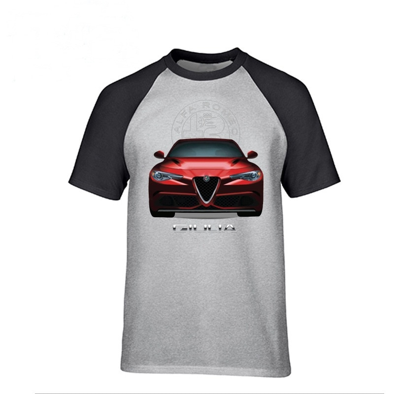Camiseta de verano para hombre, camiseta de manga corta, tamaño jumbo, ropa deportiva para hombre, estampado coche 3D, camisetas para hombre, camiseta Alfa Romeo Giulia