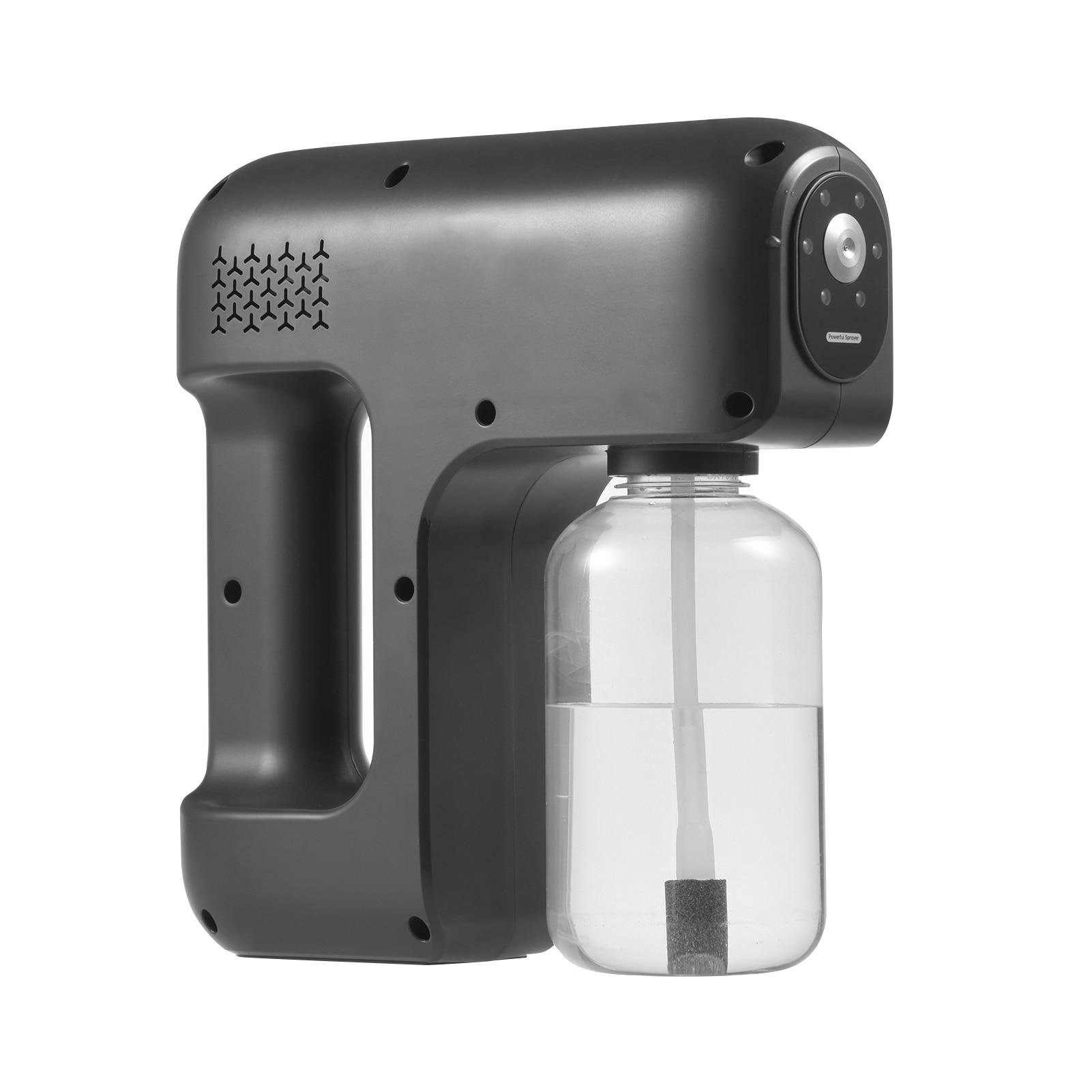 Pulverizador de Álcool Dispensador de Álcool Elétrica Automática Nano Névoa Pulverizador Atomização Pistola Usb Rechargeble Portátil 25w 400ml