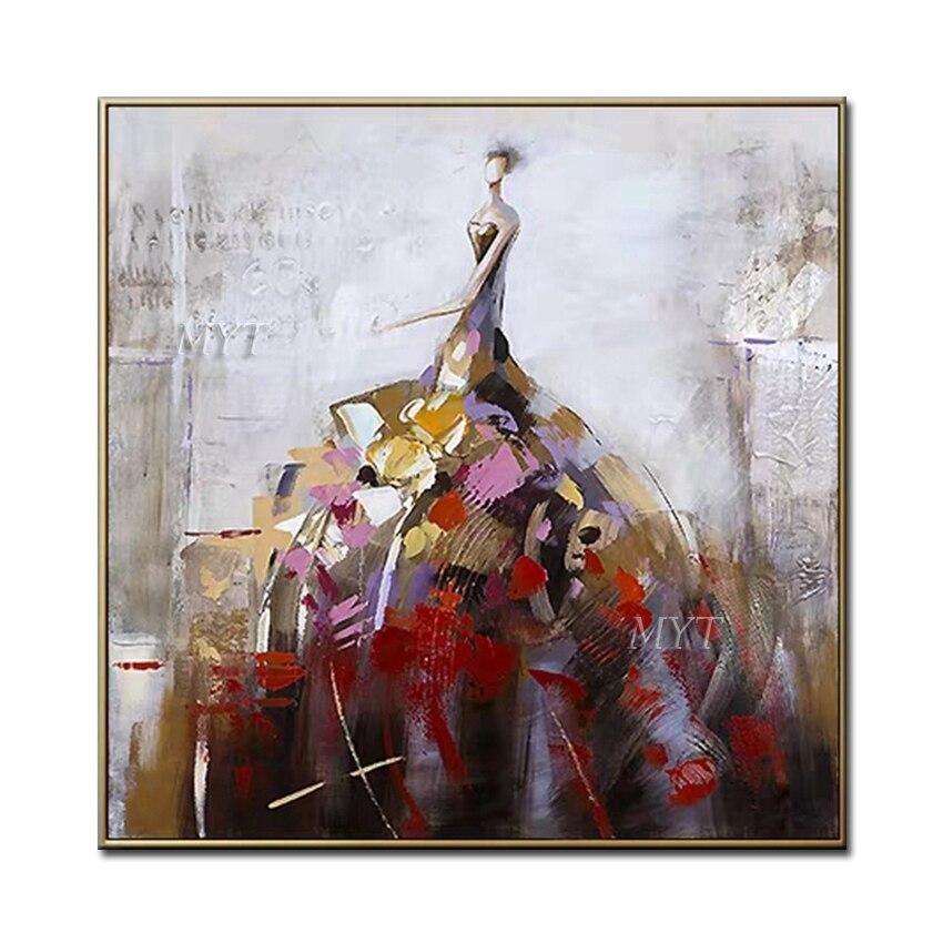 Peinture à lhuile sur toile pour femmes   Peinture murale, peinture abstraite, peinte à la main, pour décor de maison, salon, fille, 100%