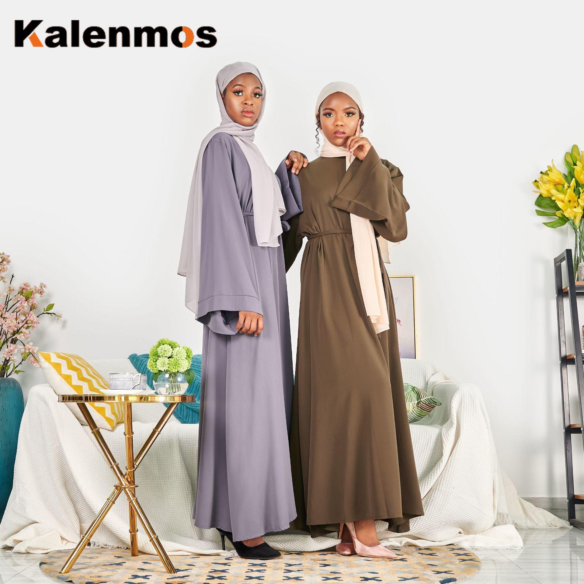 Abaya Dress Women Turkish India Muslim Ribbon Lace-up Ethnic Maxi Long Vestidos Gown Dubai Islamic Party Kaftan Femme Moroccan