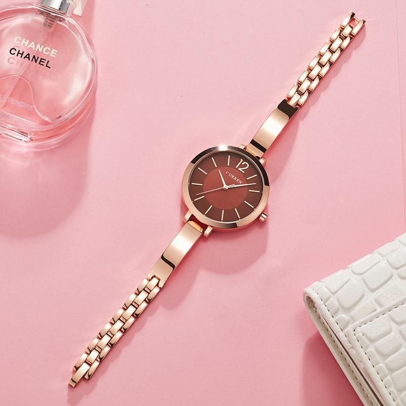 Women Watches CURREN Luxury Brand Fashion Quartz Ladies Full Steel Wrist Watch Dress Girl Clock Waterproof Female Watch Gift