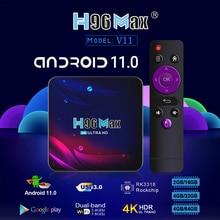 TV Box Android 11 4G 64GB 4K Android TV Box 2021 H96 MAX V11 Smart TV Box LEMFO 2.4G 5.8G WIFI Googl