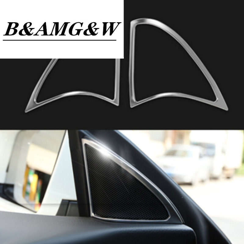 Car styling Speaker decorative frame High pitched loudspeakers trim sticker for Mercedes Benz CLA C117 Auto Interior Accessories