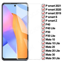 9D Full Tempered Glass For Huawei P smart S Z psmart 2020 2021 Screen Protector Mate 10 20 30 Lite P