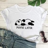 2021 woman t shirt cute panda pattern cartoon print retro fashion t shirt ladies 90s fashionable streetwear casual t shirt top