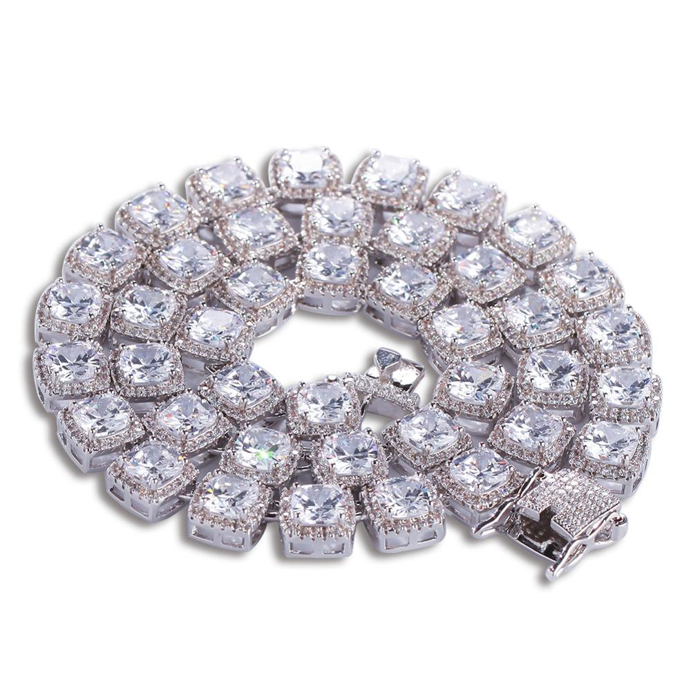 Fashion Punk Chain HipHop Bling Chain Men Necklaces Pendant Copper Hippop Chains Stone Man Jewelry