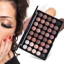 40 Colors Earth Color Eyeshadow Palette Eye Makeup Long Lasting Matte Eyeshadow Palette Pearl Shimmer Makeup Cosmetic Set TSLM2