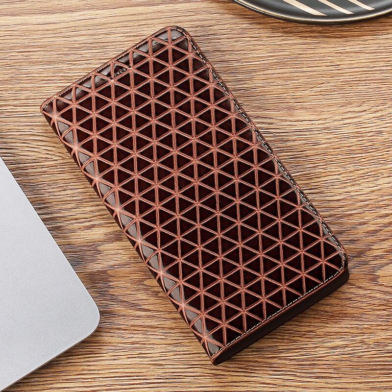 Red textura Funda de cuero auténtico para Samsung Galaxy XCOVER 4 XCOVER 4S G390F Nota 8 9 10 Pro Lite Flip de la cubierta del teléfono del soporte del conchas