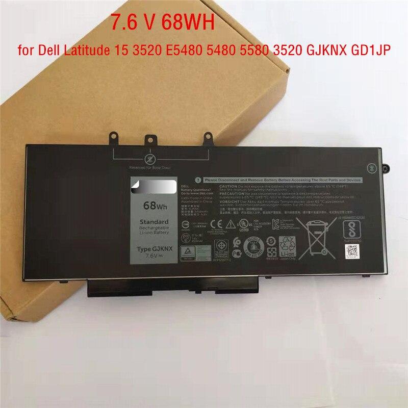 68wh Original GJKNX Laptop Battery for Dell Latitude 5480 5580 5490 E5590 Precision 15 3520 GJKNX GD1JP
