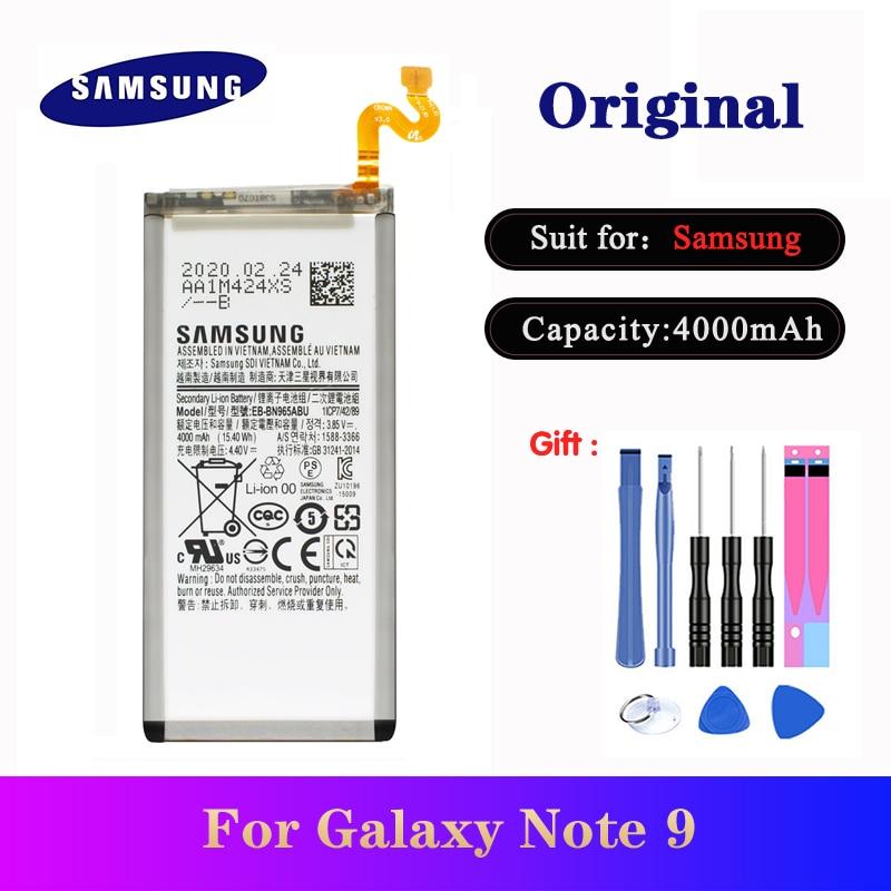 5 unids/lote Samsung Note9 EB-BN965ABU 4000mAh para Samsung Galaxy Nota 9 SM-N960F N9600 N960U N960N N960W batería de alta calidad