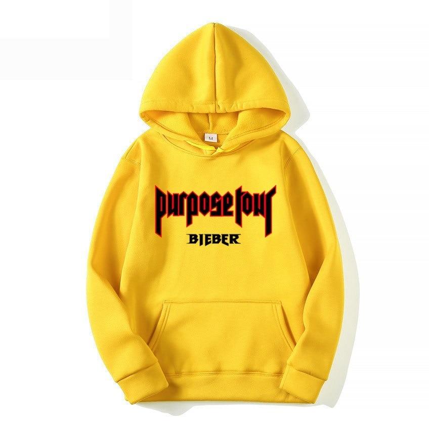 Marque Justin Bieber but Tour lettres à capuche personnalité mode marée hommes pulls décontractés rue Hip Hop rue sweat-shirt