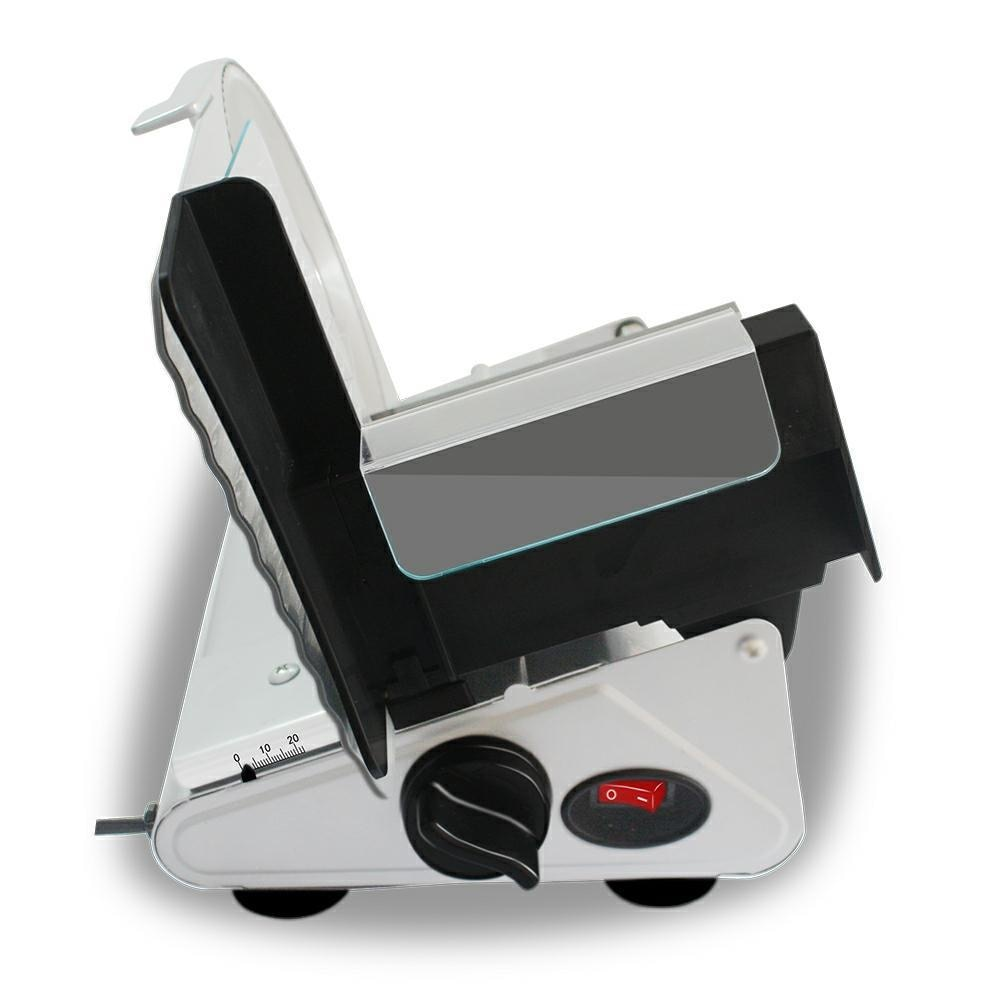 الكهربائية آلة تقطيع اللحوم سمك قابل للتعديل التلقائي Slicer قطع ماكينة الخبز انفصال سبائك الفولاذ المقاوم للصدأ سكين 200 واط