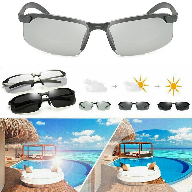 1PC Photochromic Polarised Sunglasses Casual Retro Portable Eyewear Driving Hot Sale Fishing Unisex