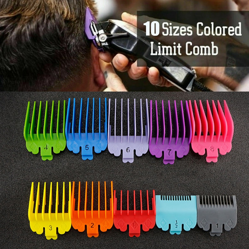 New 3/810PCS/Set Hair Clipper Combs Guide Kit Colorful Plastic Hair Trimmer Guards Attachments 3-25m