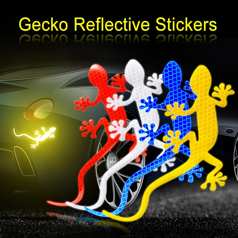 Coche Gecko tira reflectante cinta pegatina de parachoques para Mercedes W203 BMW E39 E36 E90 F30 F10 Volvo XC60 S40 Audi A4 A6