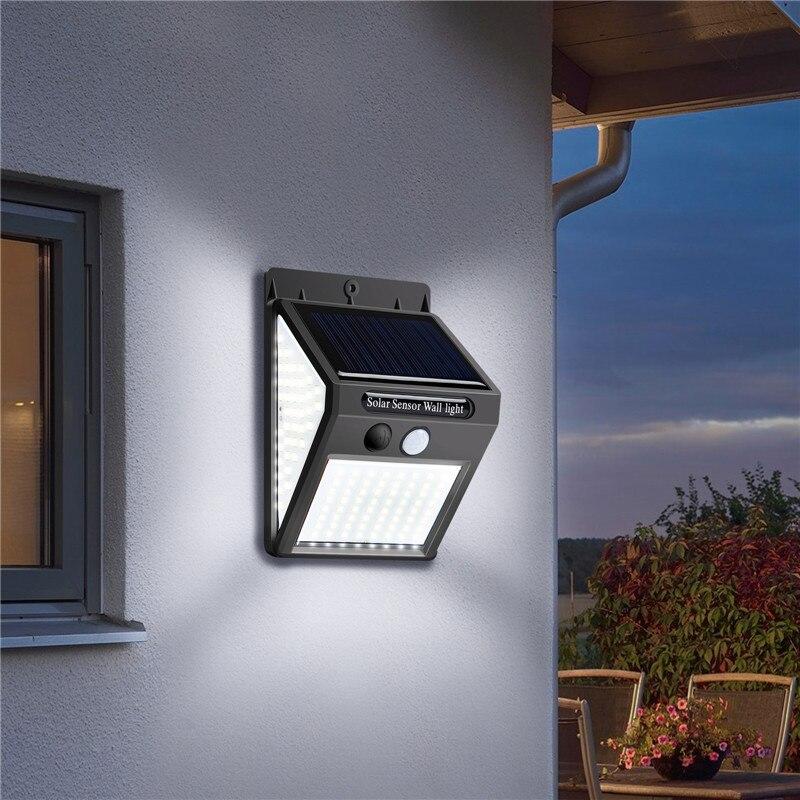 luz solar do diodo emissor de luz ao ar livre da lampada solar com sensor de iluminacao