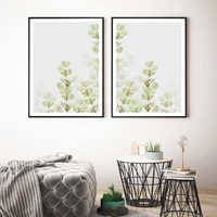 minimalist abstract green plant leaves wall art canvas painting nordic posters and prints wall pictures for living home decor