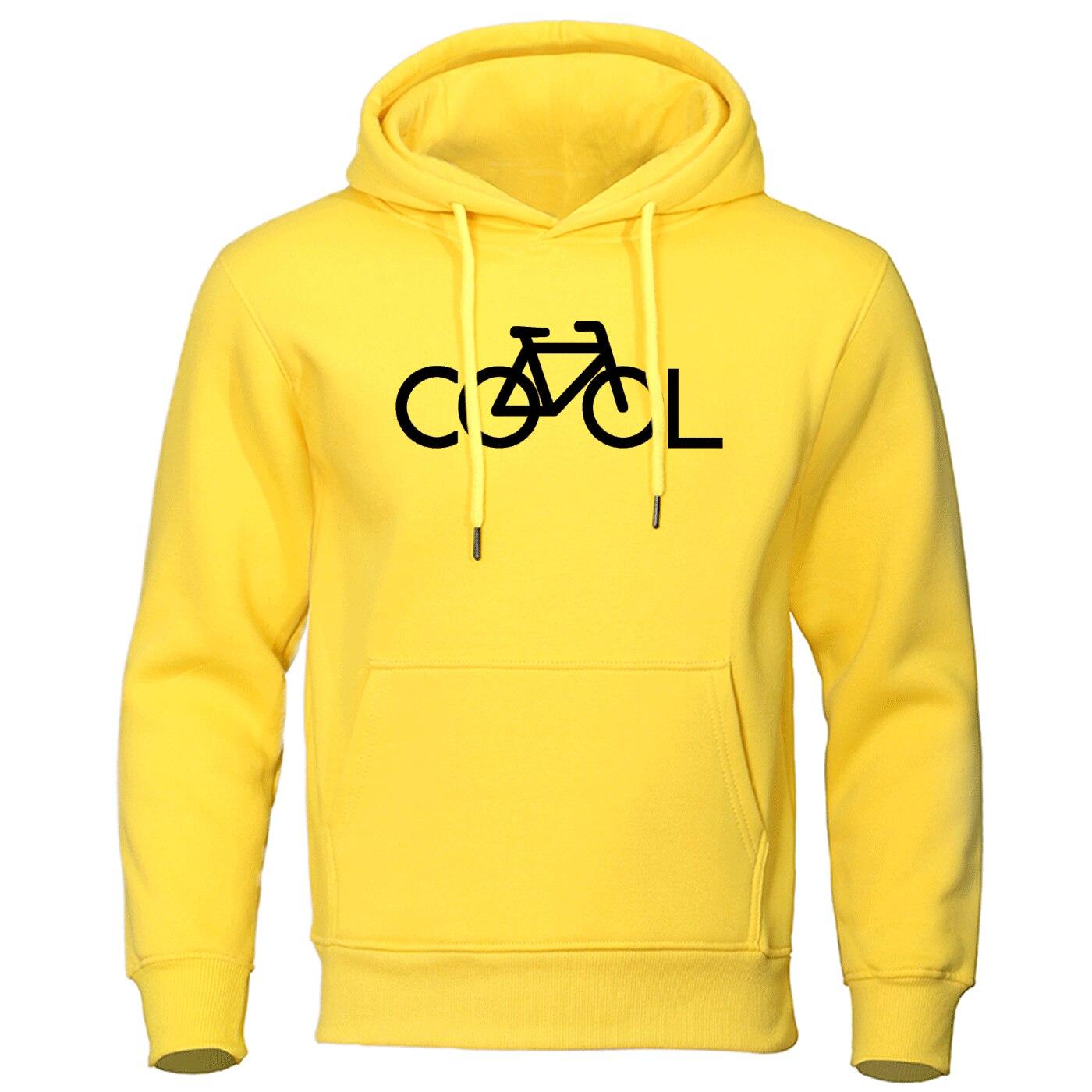 Otoño 2019 suéter con capucha invierno hombre Casaul Bike It's Cool Hoodies hombres ocio cálido marca pulóver hombres ropa Streetwear