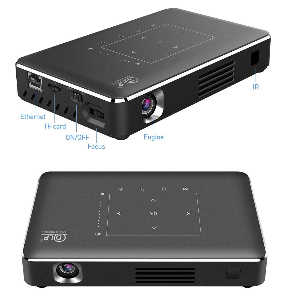 حار بيع 4K UHD الليزر DLP المسرح المنزلي جهاز عرض صغير