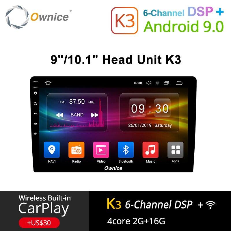 Ownice K3 Android 9.0 autoradio 2din universel pour VW Toyota Hyundai Nissan Auto GPS Navi soutien DSP 4G LTE avant arrière caméra