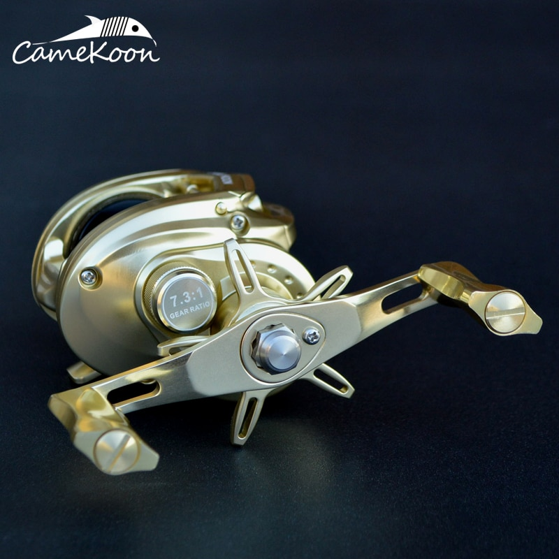 CAMEKOON Baitcasting Reel Aluminum Frame and Handle 10+1 Ball Bearings 7.3:1 Gear Ratio High Speed Saltwater Fishing Reel enlarge