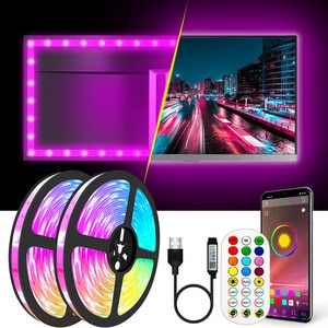 4in1 WIFI Bluetooth USB Led Strips Lights RGB 2835 Led Lighting Lamp Light Phone APP Control For TV BackLight Party 1M 2M 3M 10M