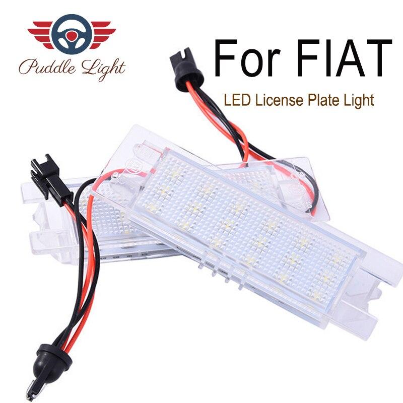2Pcs LED Number License Plate Light Lamps For Fiat Tipo Multipla 500L PUNTO 188 Brava Croma Linea Doblo Marea  Grande Punto