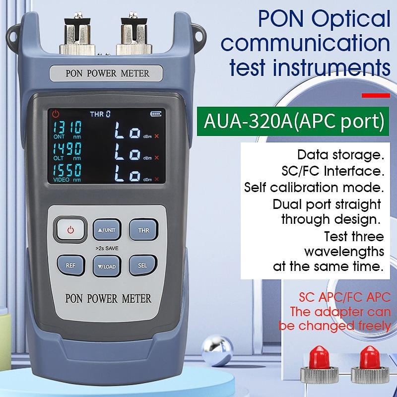 2021 NEW Handheld Fiber Optical PON Power Meter FTTX/ONT/OLT 1310/1490/1550nm