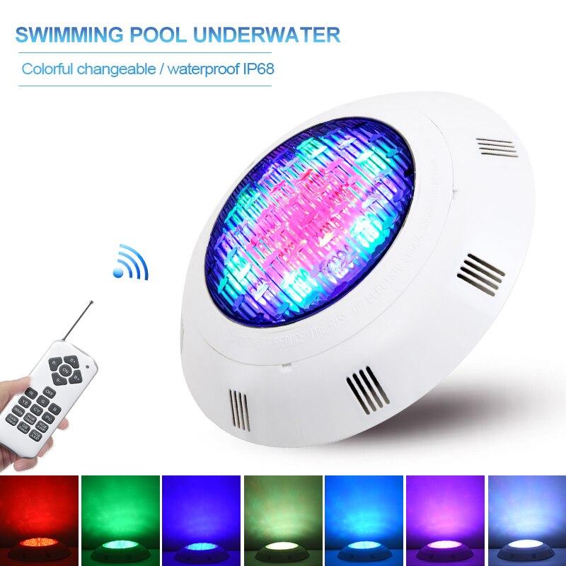 Luz de piscina Led impermeable Ip68, lámparas subacuáticas RGB, AC12V, luz sumergible,...