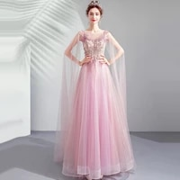 evening dresses illusion a line o neck sleeveless embroidery crystal beading lace tulle backless luxury women formal gown ts020