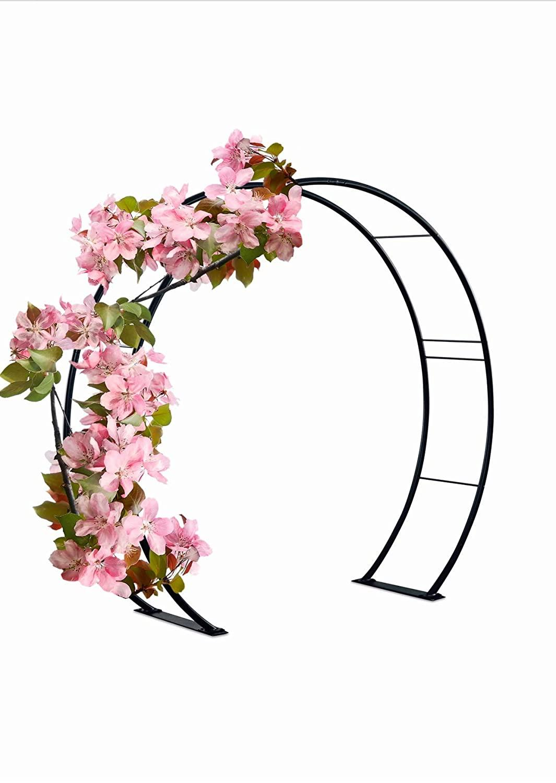 "81"" H x 87"" W Moon Gate Circle Garden and Wedding Arch"