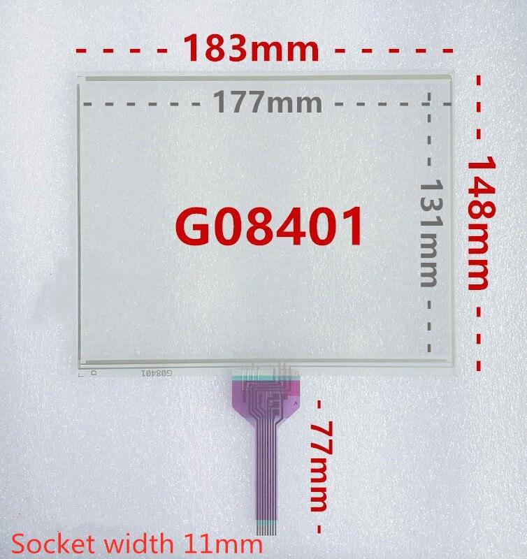 8,4 pulgadas 8-Línea de pantalla estándar G08401 pantalla táctil resistiva de control industrial pantalla de la máquina