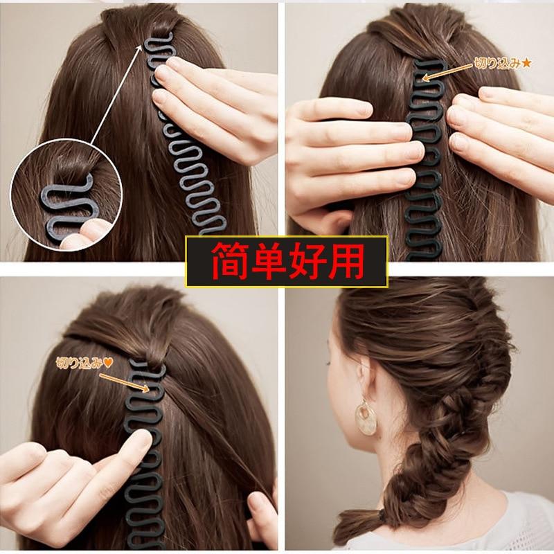 1pcs Fashion Women Magic Hair Twist Centipede Styling Braid tool Stick Bun Maker DIY hairstyle tool Girl Beauty Hair Accessories