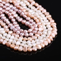 hot sale natural freshwater pearl irregular loose beads 5 6 mm for jewelry making diy bracelet earrings necklace accessory