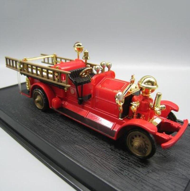 Escala 1/64, 13CM, Metal de aleación fundido a troquel clásico 1924 ahrens fox Fire truck SUV, coche, modelo de coche, juguetes para niños, colección de regalos Show