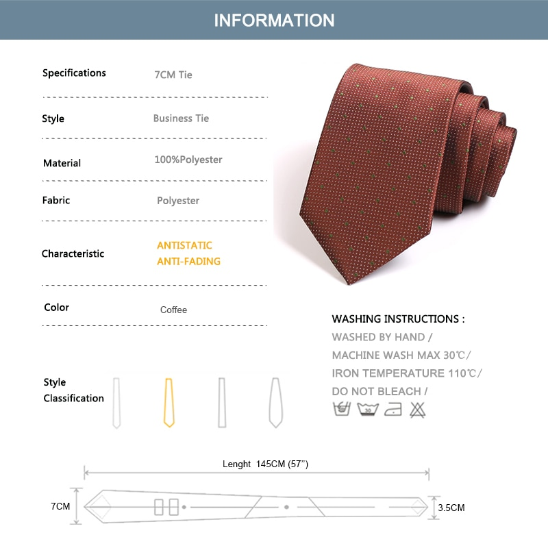 2020 New Fashion Formal 7 CM Tie For Men High Quality Business Suit Work Neck Tie Groom Wedding Party Neck Tie with Gift Box