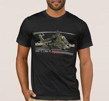 Russe MI-24 Hind Gunship et Hélicoptère Dattaque hommes T-shirt